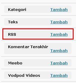 pasang RSS 4