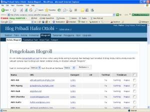 Pengelolaan Blogroll
